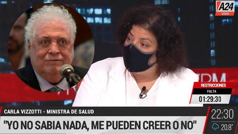 Vizzotti confirmó que Ginés ordenó vacunar a Duhalde en su casa