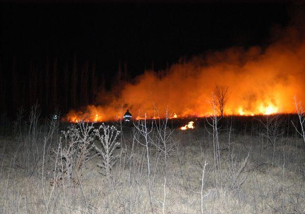 Incendio en una chacra en María Elvira