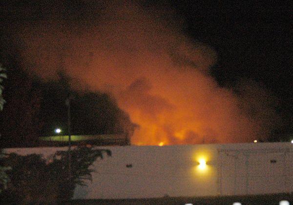 Ardió anoche el predio de la Secretaría de Servicios Públicos en calle Estado de Israel