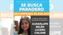 caso guadalupe: elevaron a $5 millones la recompensa