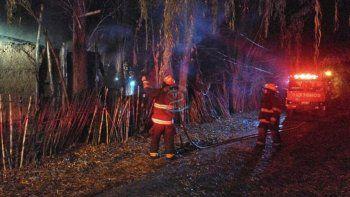 tragedia en roca: un hombre murio tras incendiarse su vivienda