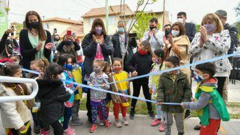 inauguraron un nuevo jardin de infantes y la escuela laboral