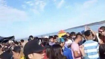 los barreales: se conocieron nuevos videos de la fiesta clandestina