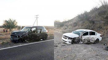 una familia de regina sufrio brutal accidente sobre la ruta 22