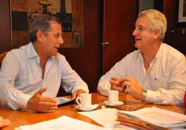 Baratti se reunió con Pechi Quiroga