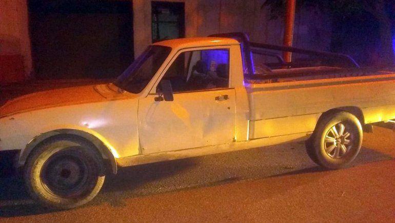 Paseaba con su familia a un bordo de una camioneta robada