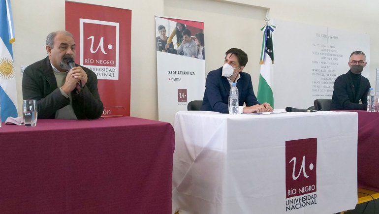 El ministro Trotta visitó la Universidad de Río Negro