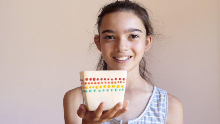 Con 12 años, la pequeña Uma se convirtió en emprendedora