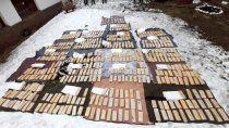 secuestro historico de droga en pehuenia: hay cinco sospechosos