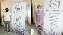 la maraton de masajes gratis para personal de salud fue un exito