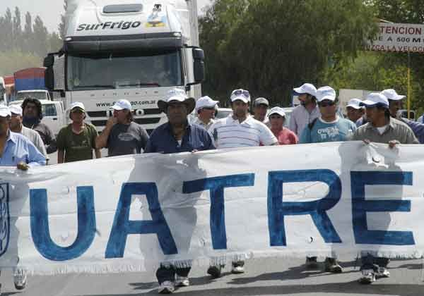 UATRE realizó una protesta en la ruta