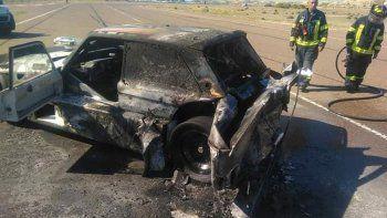 Un especular accidente marcó el regreso del automovilismo a Chubut luego de la cuarentena.