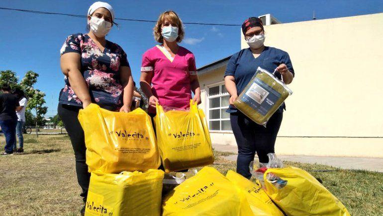 Comerciantes solidarios ponen manos a la obra para ayudar al hospital local