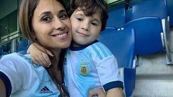 El simpático reproche de Antonela a Mateo Messi en su cumple