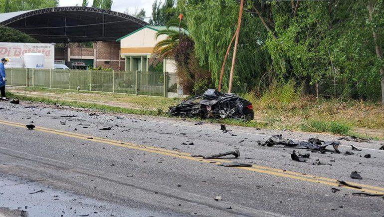 Un joven murió en un choque frontal sobre la Ruta 22