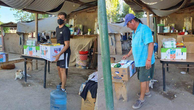 El jueves entregaron más de 100 kilos de comida al merendero La Rosenda de Neuquén.