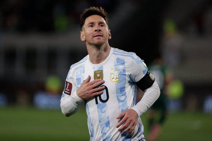 Argentina le ganó a Bolivia con hat-trick de Messi y un nuevo récord
