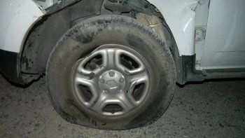 La Renault Duster chocada.