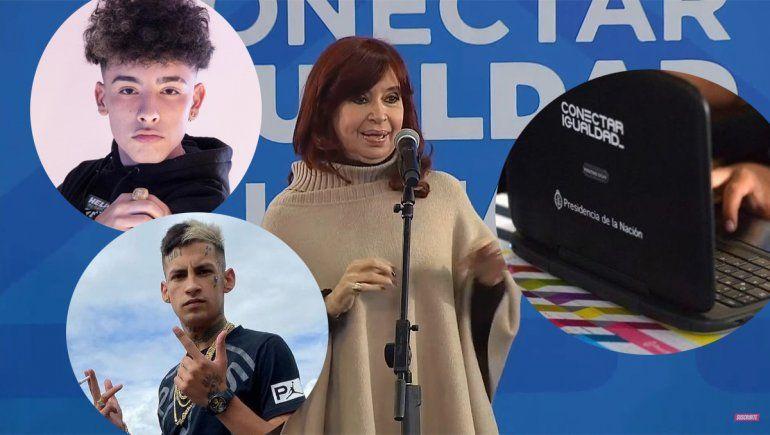 Cristina relanzó el plan Conectar Igualdad, habló de L-gante y Trueno y las redes estallaron
