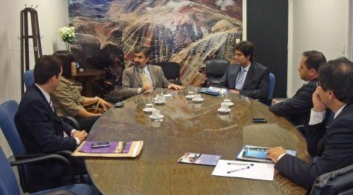 Pichetto se reunió con el secretario de Minería de la Nación