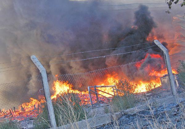Incendio en un empaque