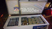 La Policía encontró una gran cantidad de latas de cerveza y de bebidas energizantes.