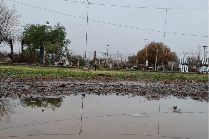 Cayó aguanieve y seguirá lloviendo en Cipolletti