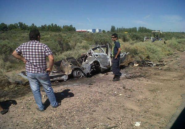 Tres personas perdieron la vida en un accidente en Chimpay