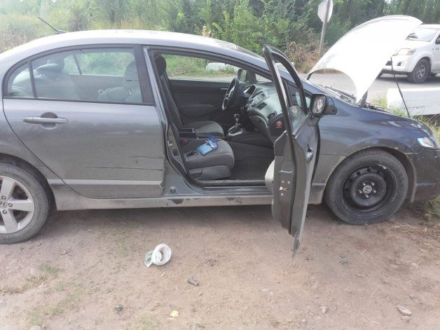 El auto con el que pretendieron escapar