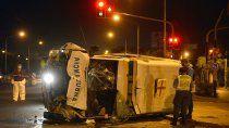 enfermera continua internada tras volcar en la ambulancia