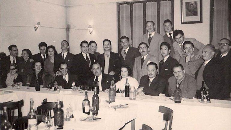 Comida de camaradería trabajadores de la radio Sr. Silo Vanoli, Sr. Jacob, Agustín Orejas, Evaristo del Egido, Freddy Vega, Sr. Gravier, Sr. Miguel Sander, Milton Aguilar, Alvarado, Morosani, entre tantos otros.