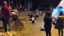 borracho atropello a un recolector de residuos en roca