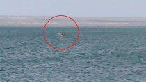 rescataron a nena que habia quedado a la deriva en el lago pellegrini