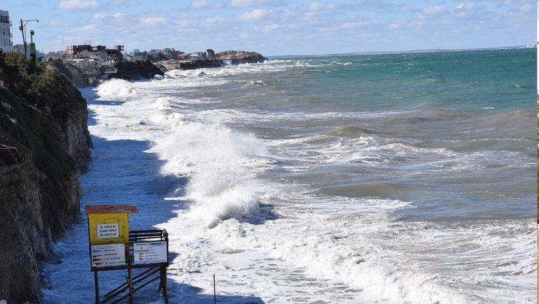 Mareas extraordinarias llegan a la costa rionegrina
