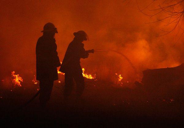 Voraz incendio en la zona de La Falda