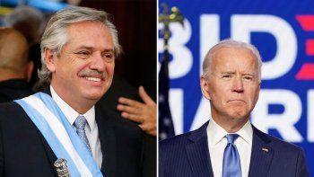 Fernández habló con Biden para restaurar el vínculo con EE.UU.