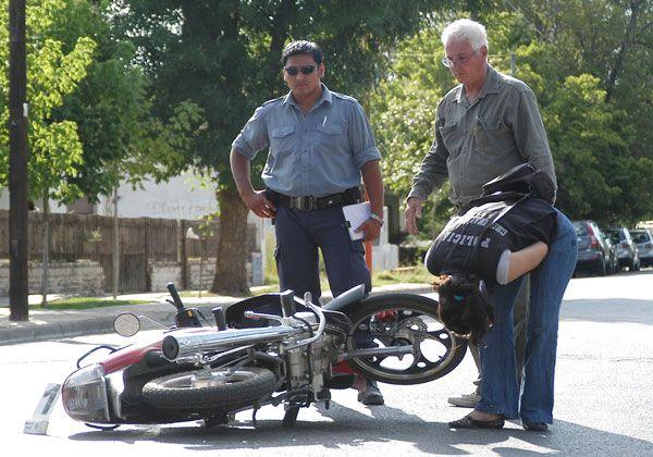 Motociclista herida tras una colisión