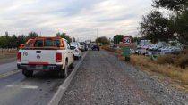 trabajadores de salud ahora cortan la ruta 151 en barda del medio