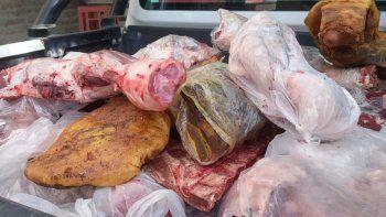 decomisan 880 kilos de carne podrida y faenada clandestinamente
