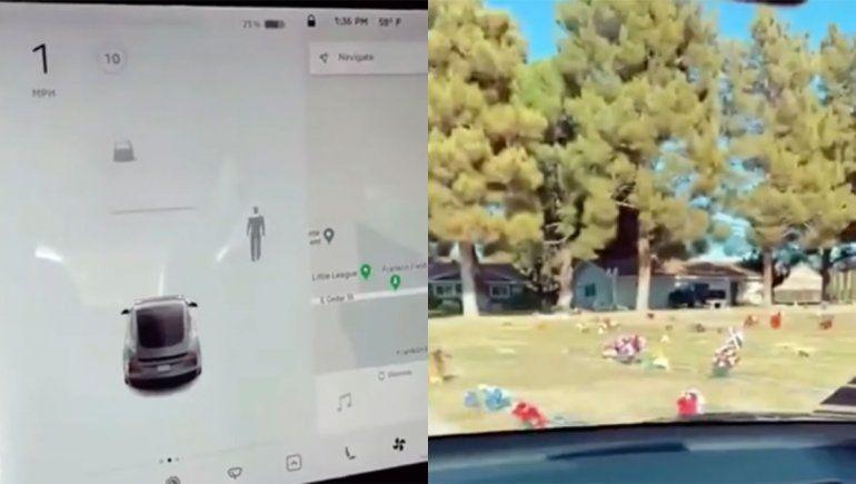 ¿El radar de un auto detectó un fantasma en el cementerio?