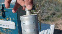 sierra grande: allanaron una vivienda y encontraron una granada