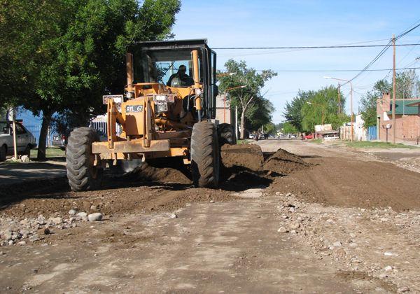 Reparación de calles en Cinco Saltos