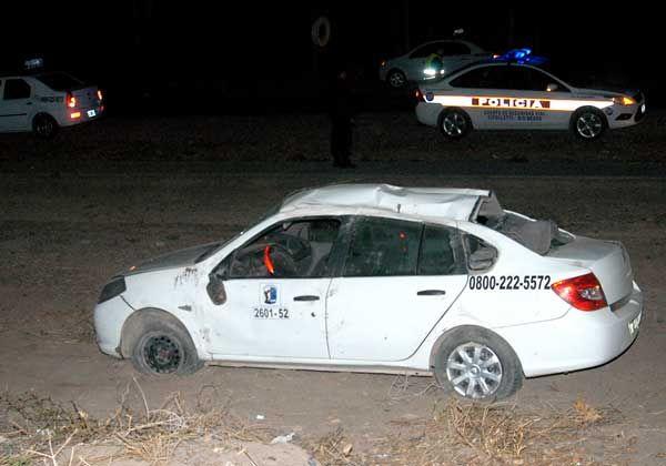 Volcó un taxi en la Ruta Provincial 65
