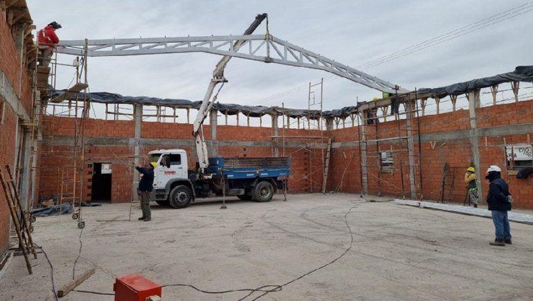 El nuevo edificio de la Escuela 63 tiene casi la mitad de los trabajos terminados