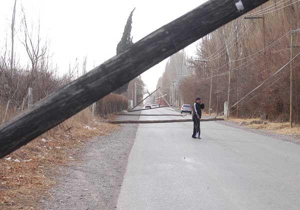 El viento provocó serios trastornos en la ciudad