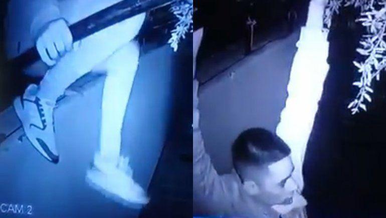 El intruso del video admitió que fue a robar plantas de marihuana