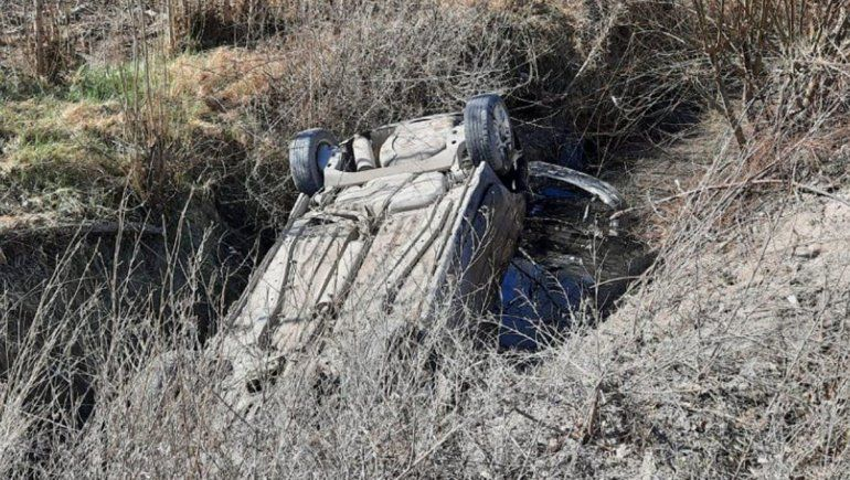 Una familia hospitalizada tras volcar sobre la Ruta 65