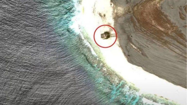 Mientras navegaba por Google Maps descubrió el accidente de un OVNI
