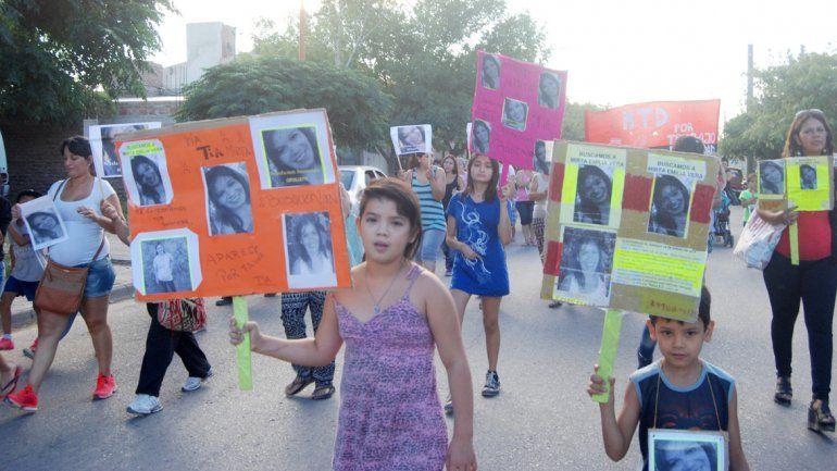 Familiares y amigos de Emilia Vera se movilizaron el miércoles pasado.