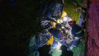 Tres unidades de Bomberos participaron del rescate.